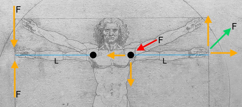 Vitruvian Man by Leonardo da Vinci; Image Courtesy:  Luc Viatour / www.Lucnix.be