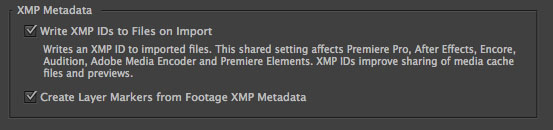 AE XMP Support