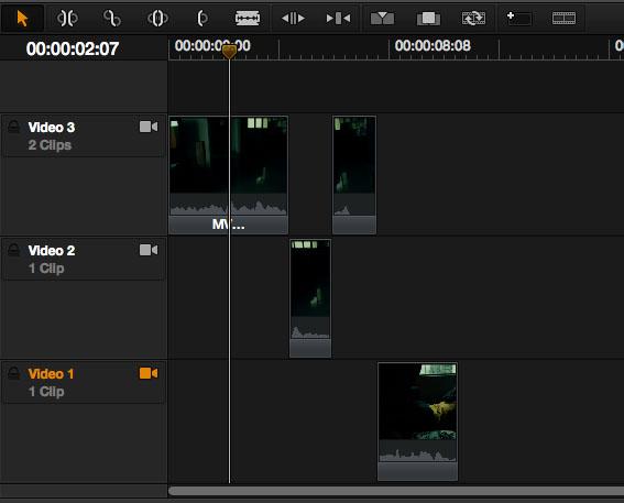 Resolve Editing Timeline