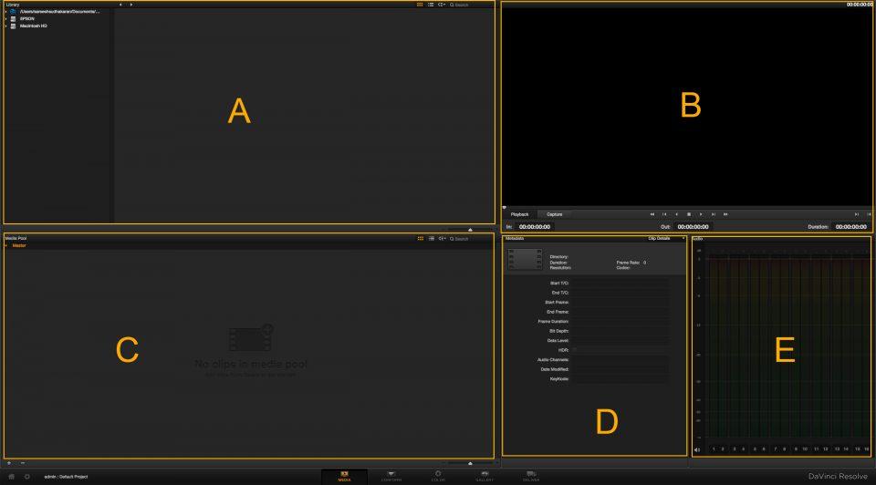 Resolve Media GUI