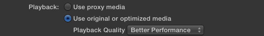 FCPX Playback Settings