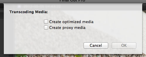 FCPX Transcoding Options