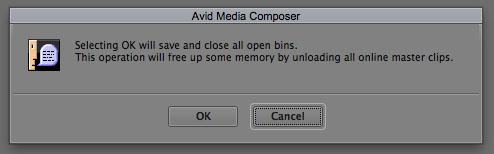 Avid Clear Bin Memory