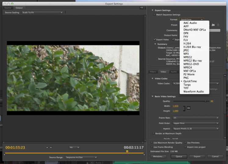 The Adobe Premiere Pro Export Guide (Part One): Codecs