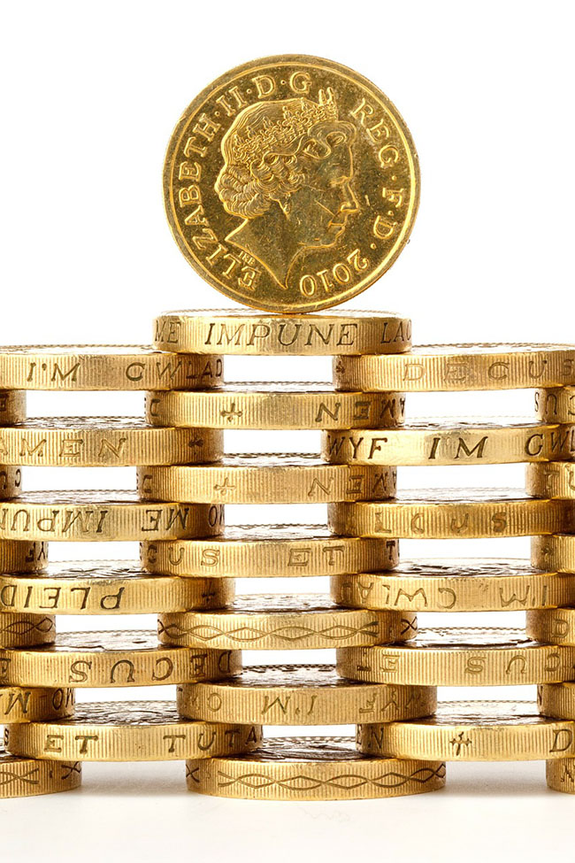 Stacked Gold Coins