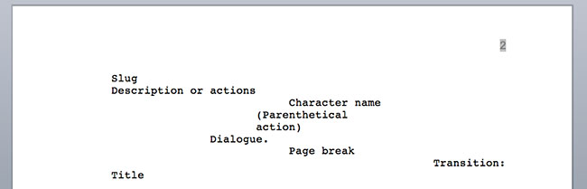 Screenplay Elements