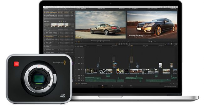 BMPC4K and Laptop