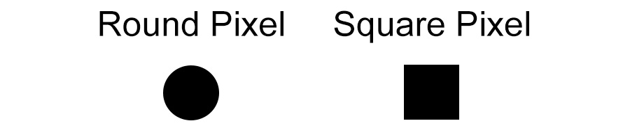 Round vs Square Pixel
