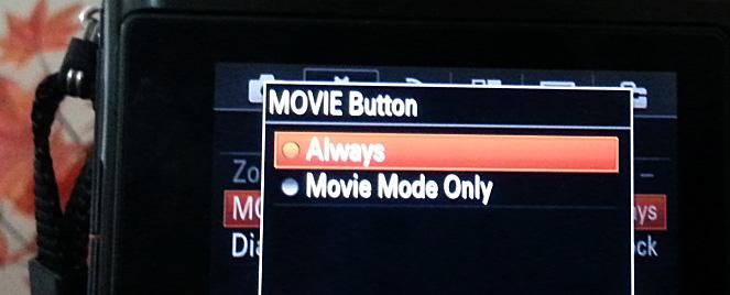 Sony A7s Movie Mode