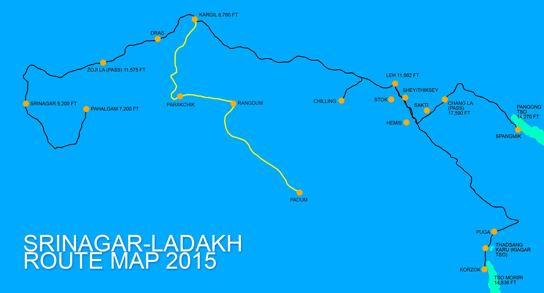 SrinagarLadakhRouteMap
