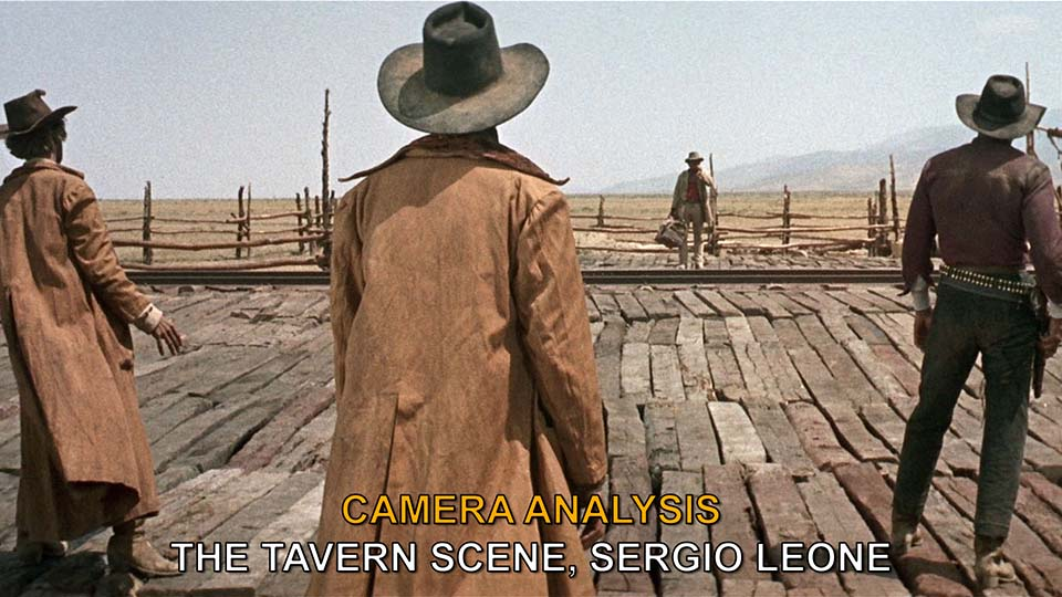 Camera Angles and Movement: Tavern Scene from Sergio Leone's Once Upon a Time in the West