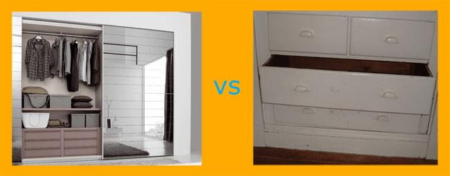 Wardrobe vs Drawer