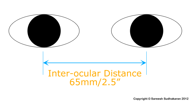 Interocular distance