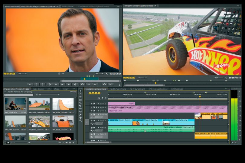 Adobe Premiere Pro GUI