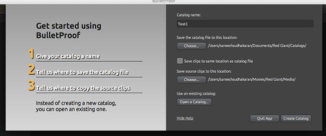 Bulletproof Catalog Start Screen