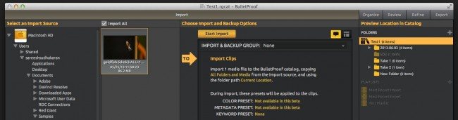 Bulletproof Import Screen Panes
