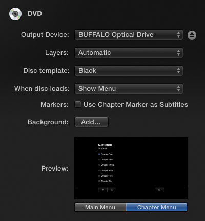 FCPX DVD Settings