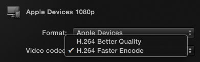 FCPX H264 Quality Options