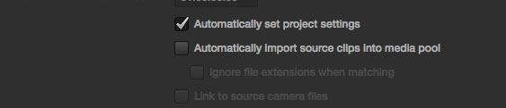 Resolve Import Media Clips