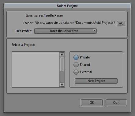 Project Selector Create