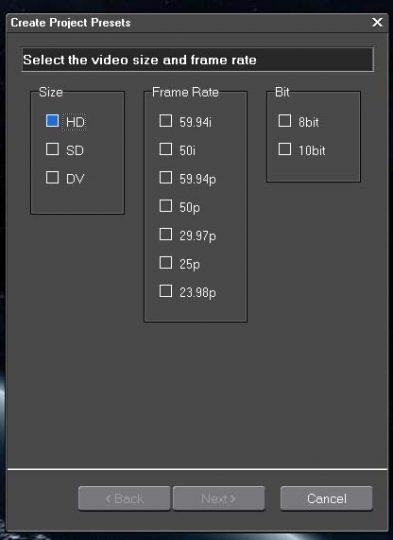 Edius Video Options