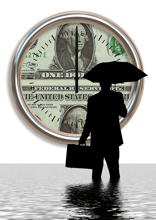 Man Umbrella Money Coin