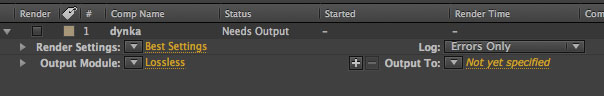 AE Render Queue Options