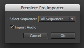 AE Select Sequencee to Import