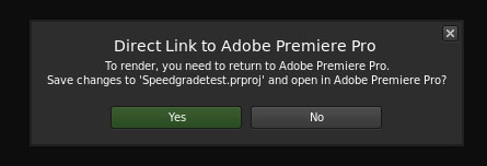Cant Render Premiere Pro in Speedgrade